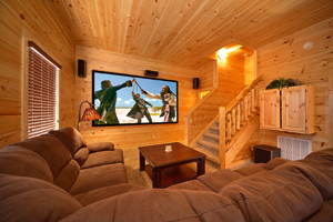 cabin with media room